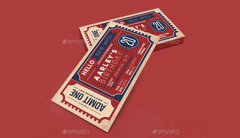 14+ Ticket Invitation Designs  Examples - PSD, AI, Vector EPS - ticket invitation