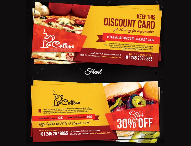 Food Coupon Design Online