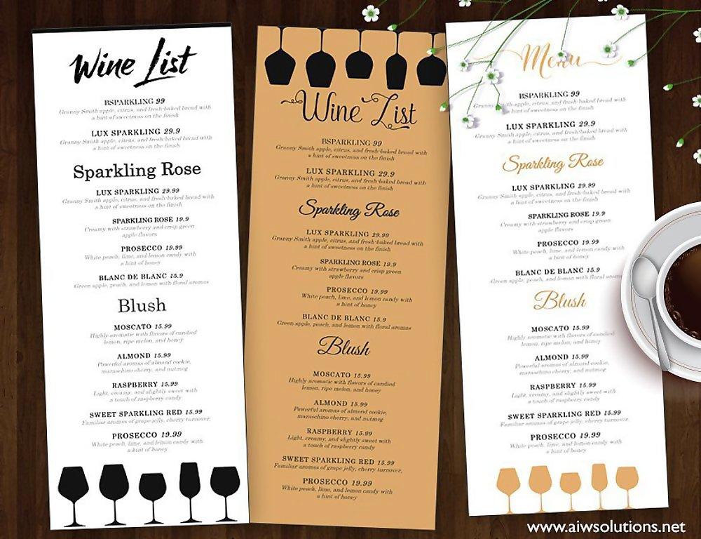 10+ Wine Menu Designs  Examples - PSD, AI, Vector EPS - menu list sample