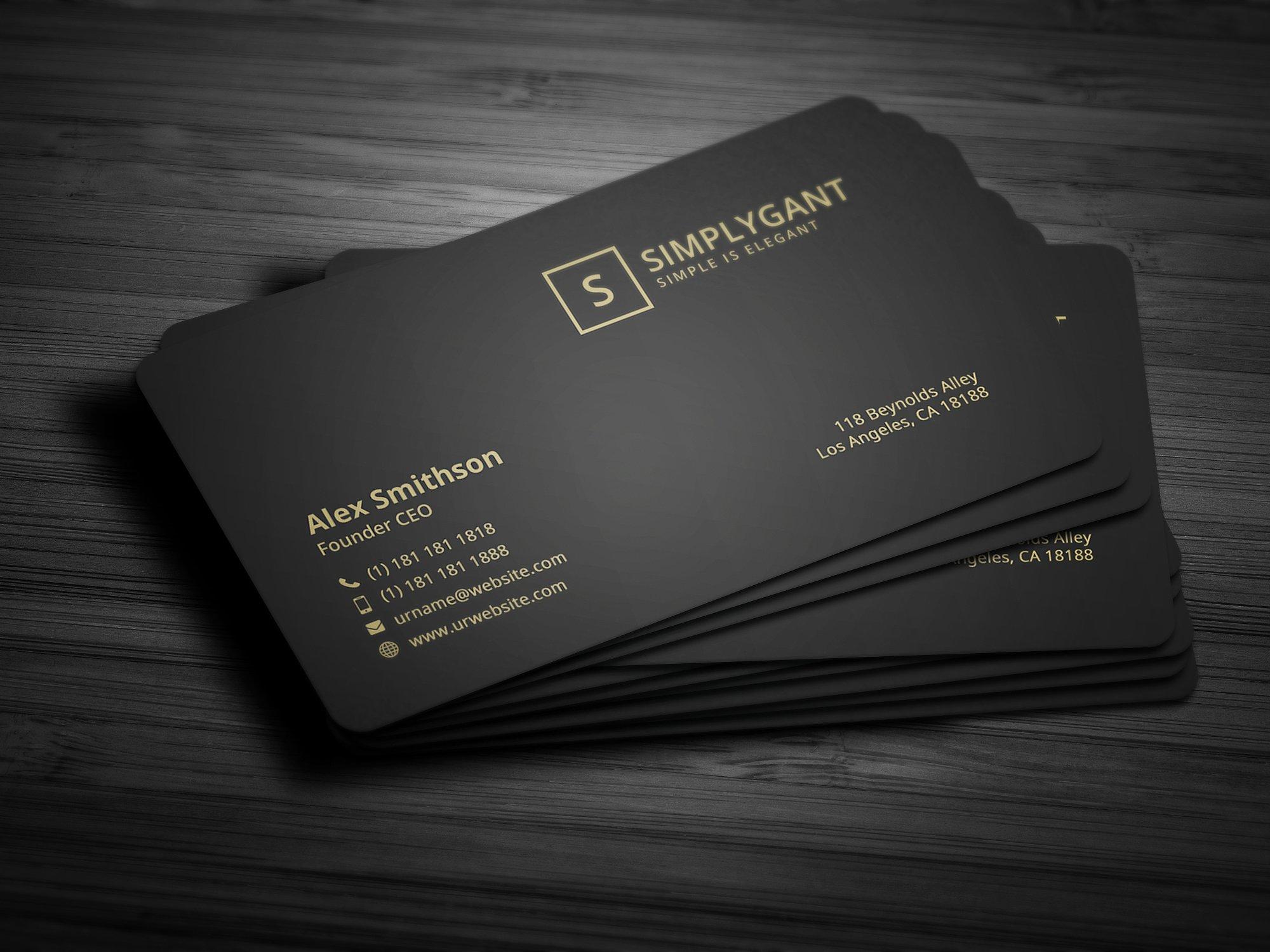 i card samples for business