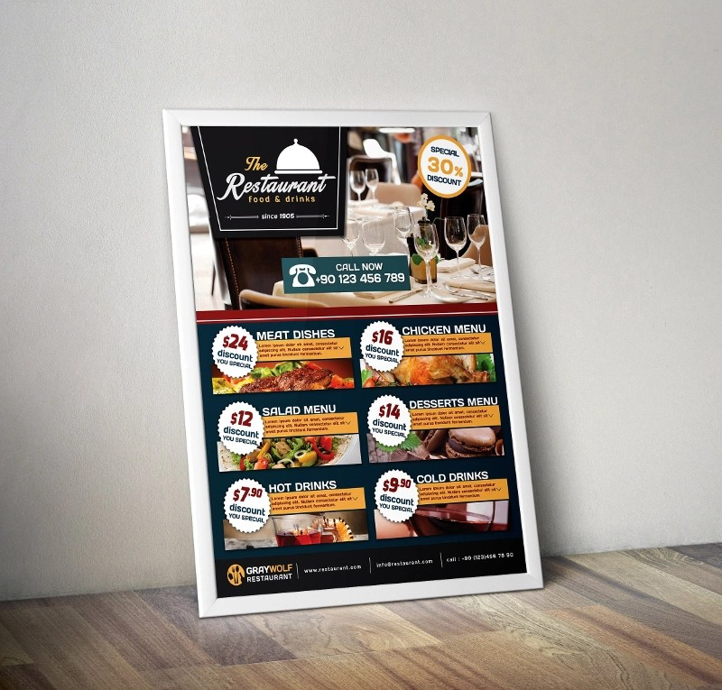 14+ Restaurant Flyer Designs  Examples - PSD, AI, Vector EPS
