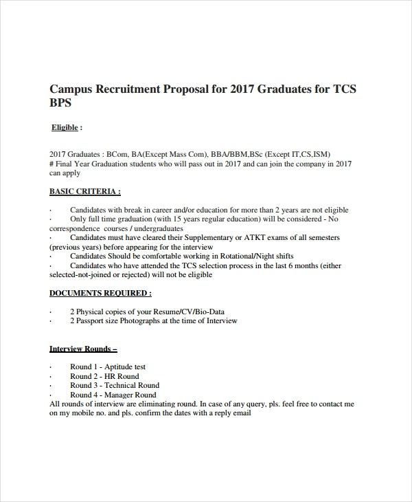 10+ Recruitment Proposal Examples - PDF Examples