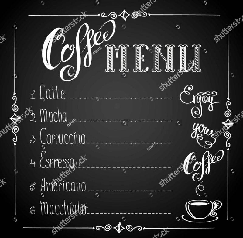 14+ Coffee Menu Designs  Examples - PSD, AI, Vector EPS