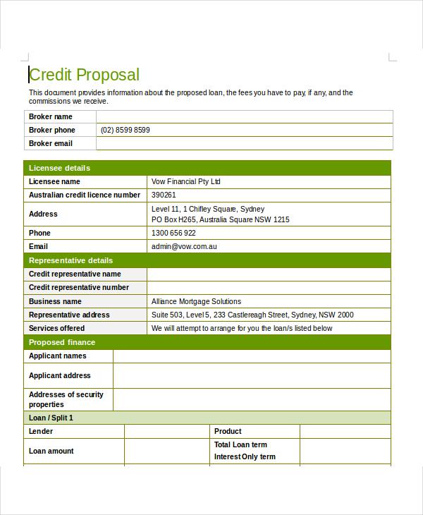 9+ Loan Proposal Examples - PDF