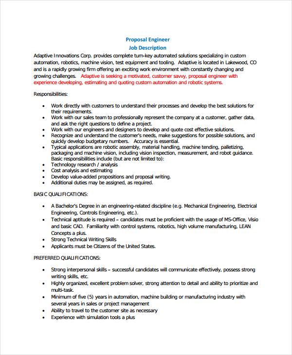 10+ Job Proposal Examples - PDF, DOC