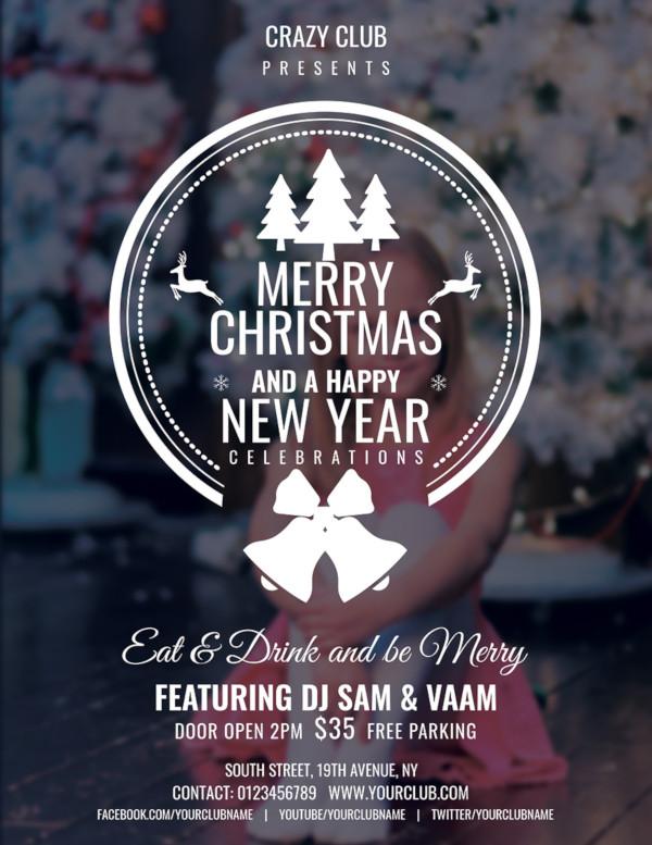 24+ Christmas Party Flyer Designs  Examples - PSD, AI, Vector EPS