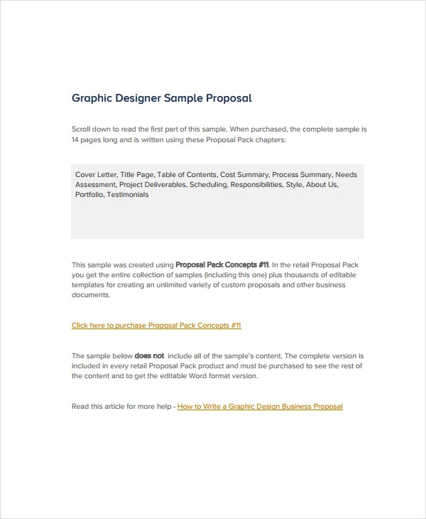 10+ Graphic Design Proposal Examples - PDF, DOC, Pages