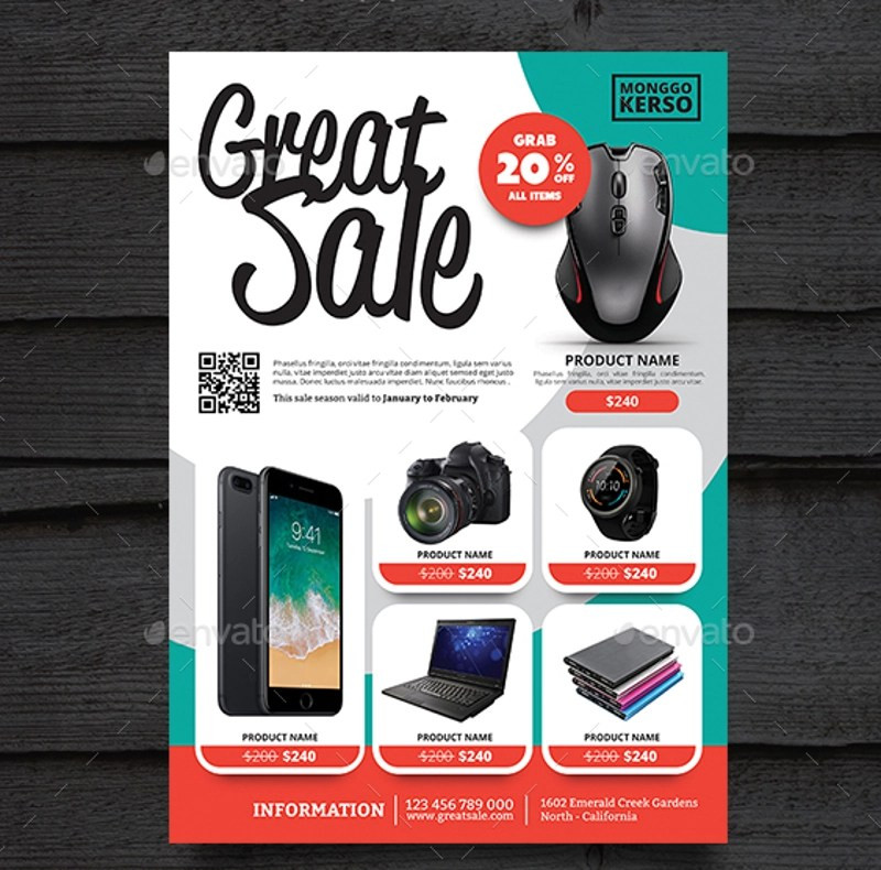 19+ Product Promotion Flyer Designs  Examples - PSD, AI, Vector EPS - emerald flyer template