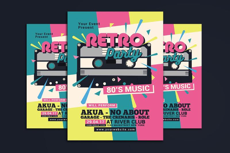 14+ Retro Flyer Designs  Examples - PSD, AI, Vector EPS
