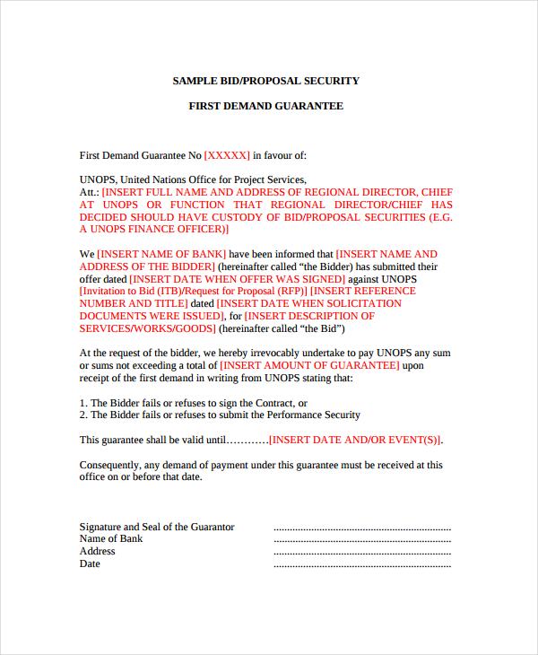 12+ Bid Proposal Examples - PDF, DOC - Bid Proposal Examples