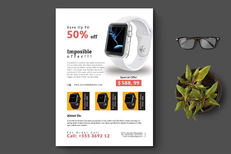 19+ Product Promotion Flyer Designs  Examples - PSD, AI, Vector EPS - product flyer