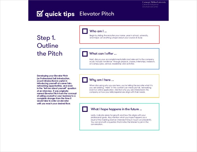 13+ Elevator Speech Examples  Samples in PDF - elevator pitch template
