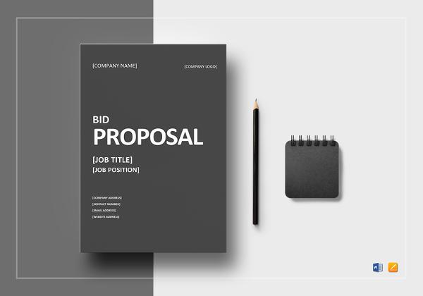 12+ Bid Proposal Examples - PDF, DOC - bid proposal templates