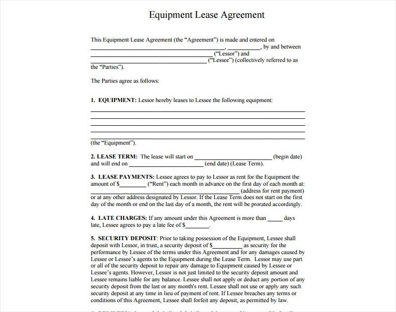 17+ Lease Agreement Examples - PDF, DOC