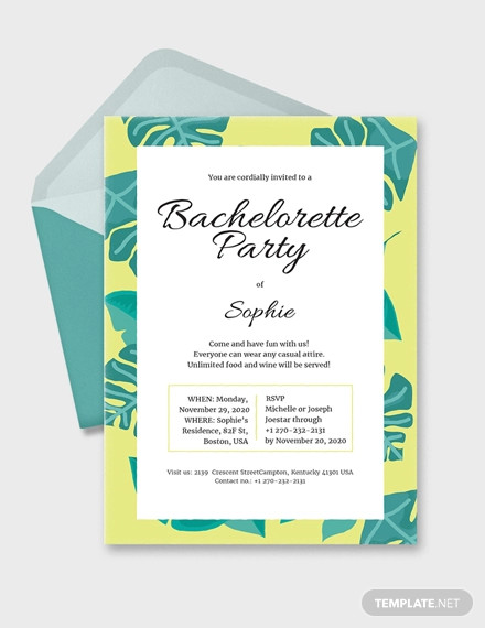 24+ Bachelorette Party Invitation Designs and Examples - PSD, AI