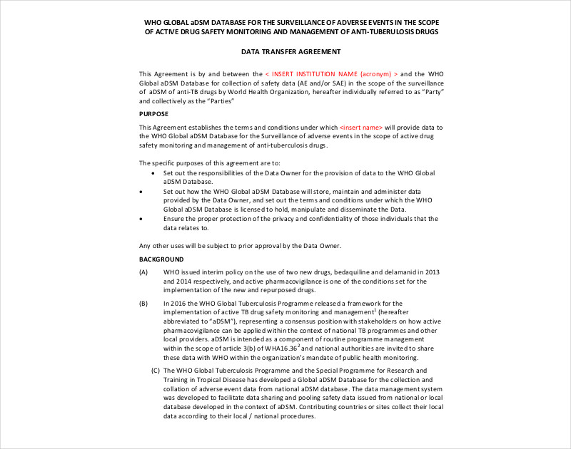 14+ Transfer Agreement Examples - PDF, DOC