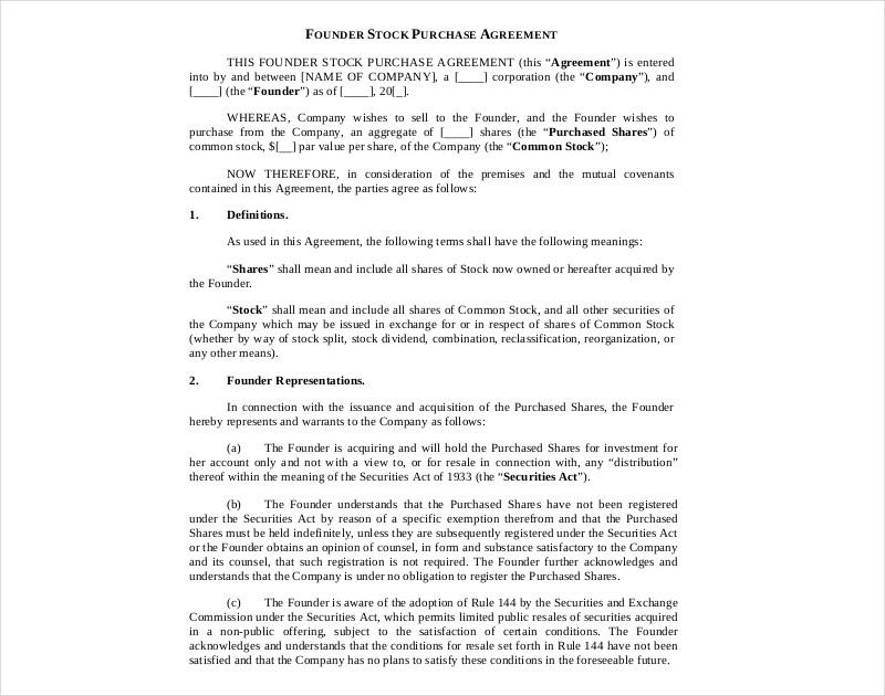 14+ Stock Agreement Examples - PDF, DOC