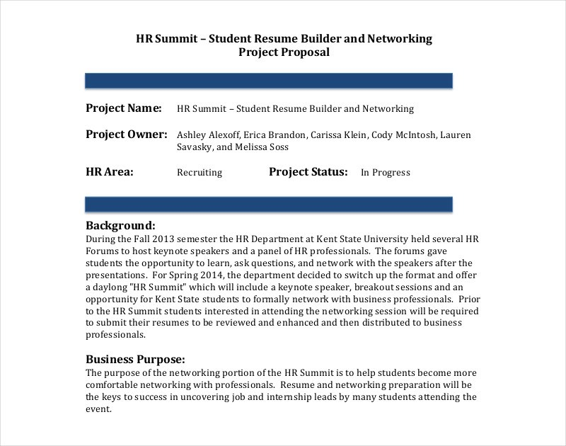 11+ Hr Proposal Examples - PDF, Word, Pages - project proposal template sample