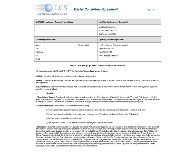 consulting agreement - Pinarkubkireklamowe