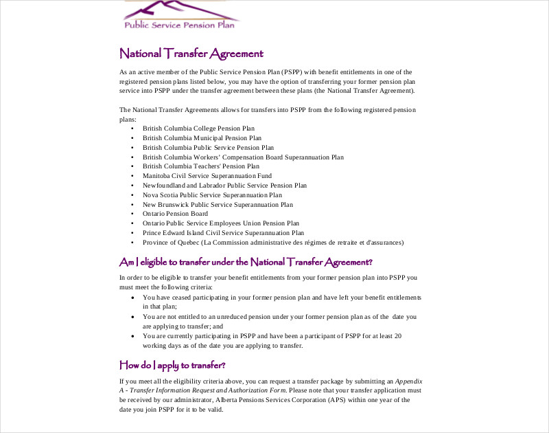 14+ Transfer Agreement Examples - PDF, DOC - transfer agreement