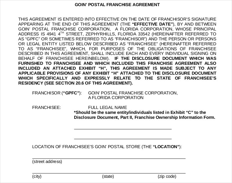 15+ Franchise Agreement Examples - PDF, DOC