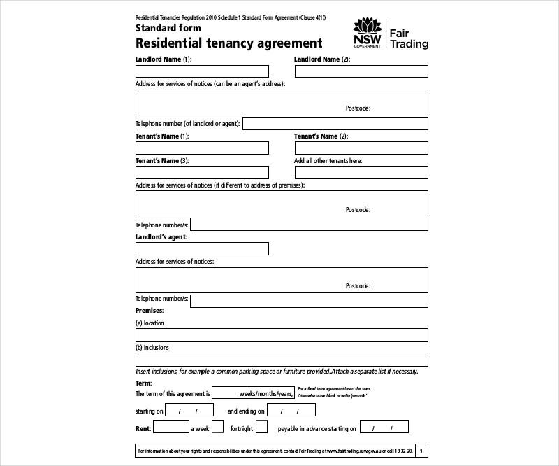14+ Tenancy Agreement Examples - PDF