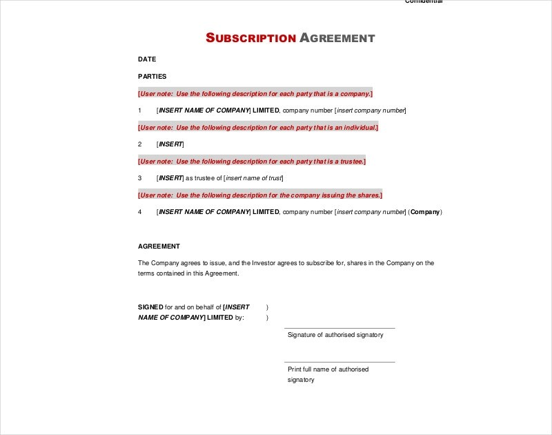 16+ Subscription Agreement Examples  Samples - PDF, DOC