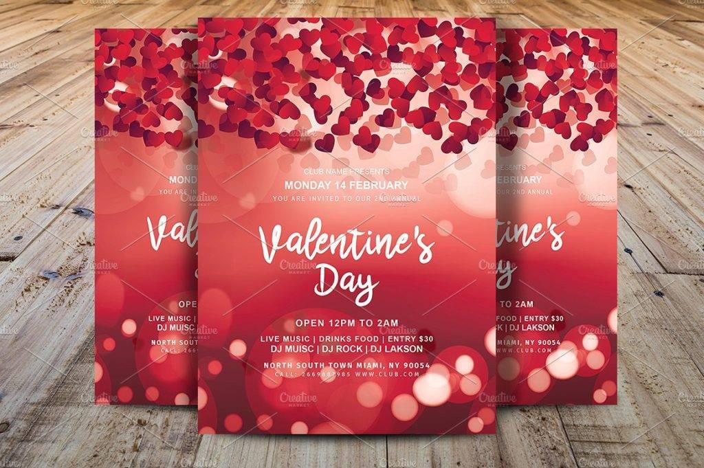 16+ Valentine\u0027s Day Flyer Examples  Designs - PSD,