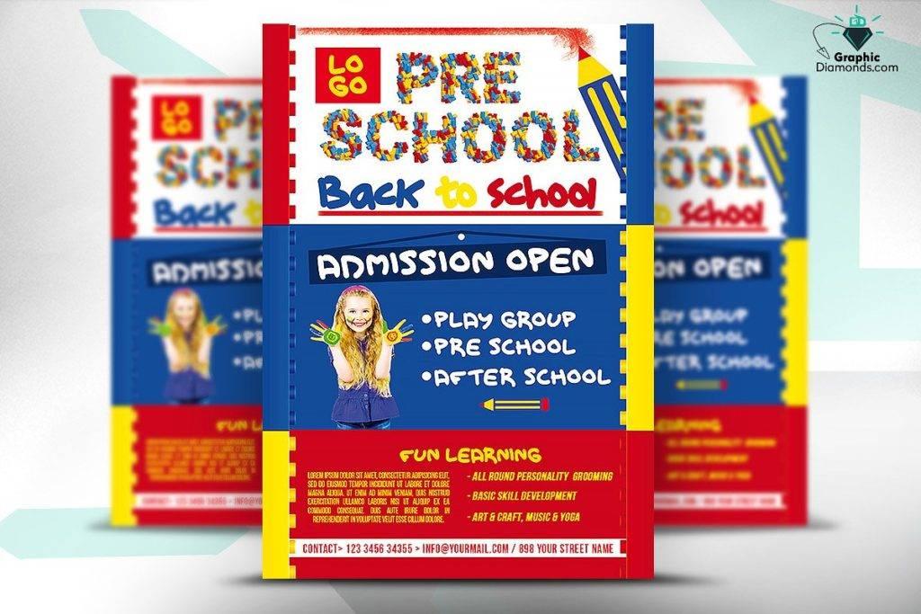 preschool flyer template