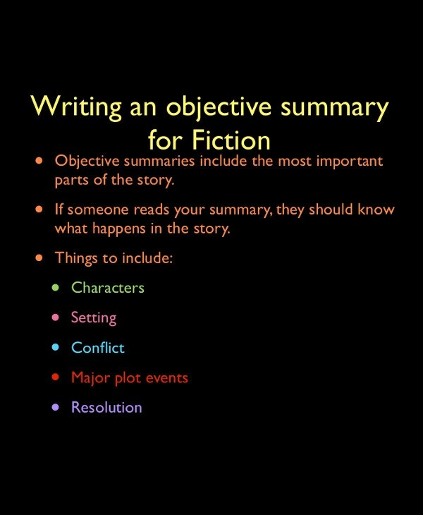 Objective Summary Examples - PDF - what is an objective summary