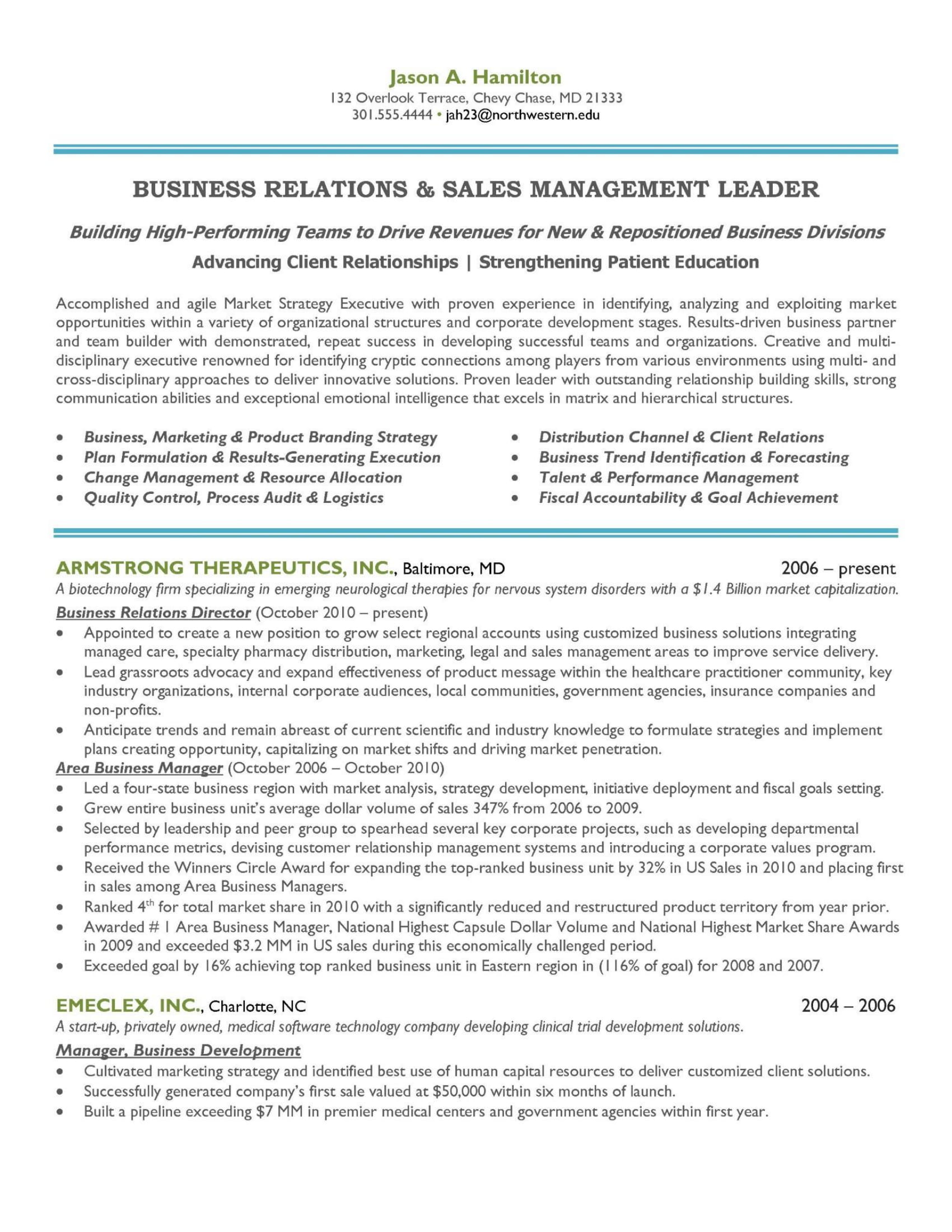resume career summary examples marketing