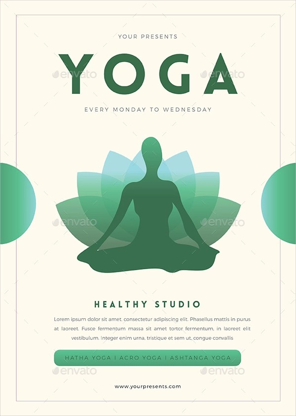 16+ Yoga Flyer Designs  Examples \u2013 PSD, AI - yoga flyer