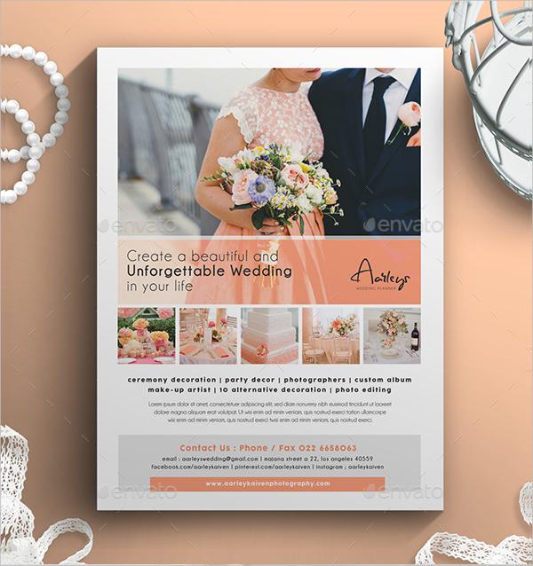 20+ Wedding Flyer Designs  Examples \u2013 PSD, AI, Word, EPS Vector