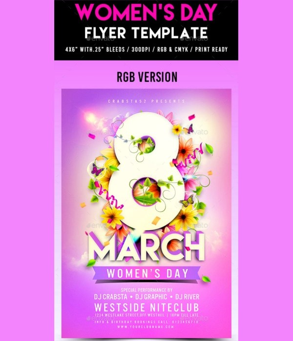10+ Women\u0027s Day Flyer Designs  Examples \u2013 PSD, AI Examples