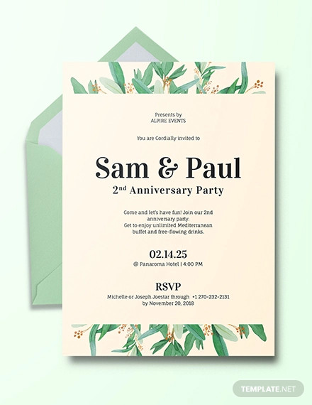 18+ Anniversary Party Invitation Designs  Examples - PSD, AI