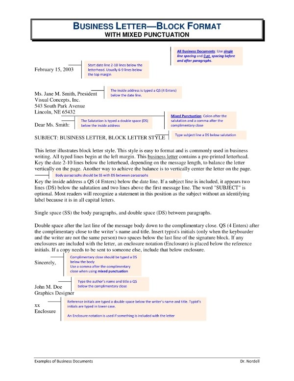 3+ Business Letter Examples - PDF