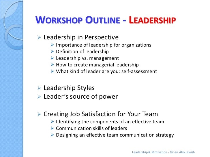 Leadership Outline Examples - PDF Examples