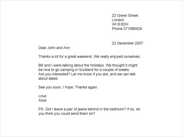 How To Write A Personal Letter With Examples Examples