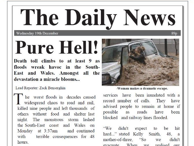 Newspaper Report Writing Examples in PDF