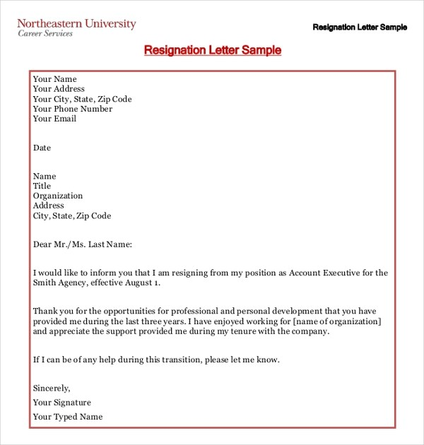 Writing a Heartfelt Resignation Letters in PDF - example resignation letters