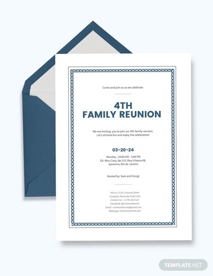 19+ Family Reunion Invitations Examples - PSD, AI, EPS Vector Examples