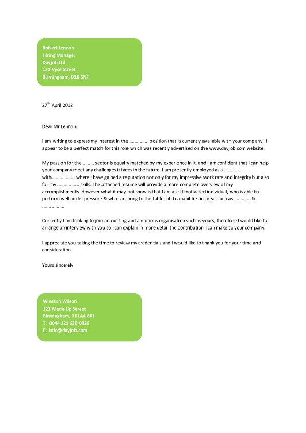 9+ Simple Cover Letter Examples - PDF