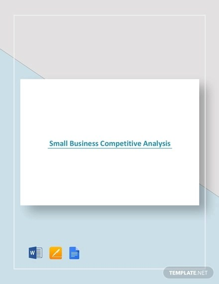 18+ Competitive Analysis Examples - PDF, Word, Pages Examples