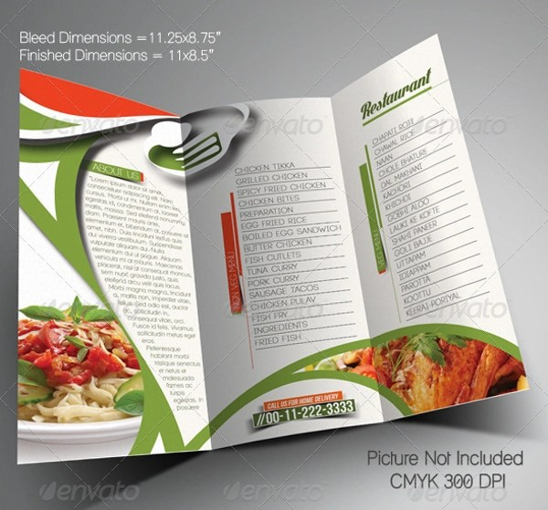 Restarunt Brochure How To Make A Restaurant Flyer How To Make A