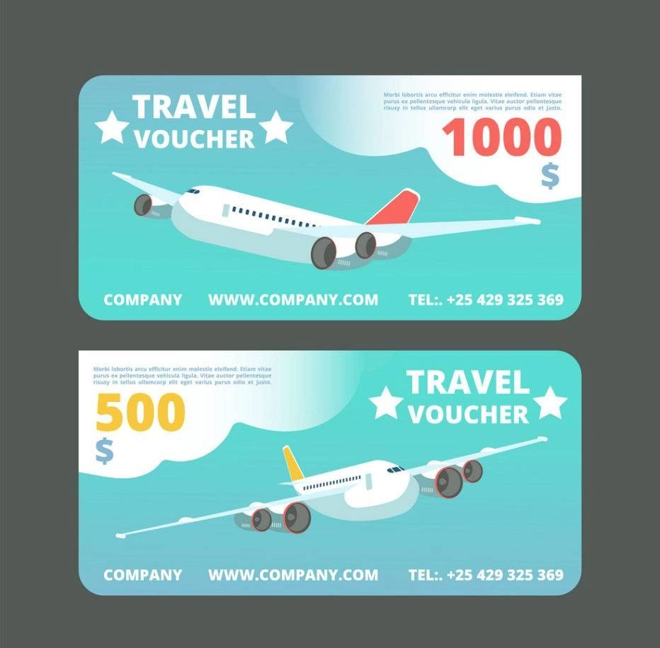 travel gift voucher template