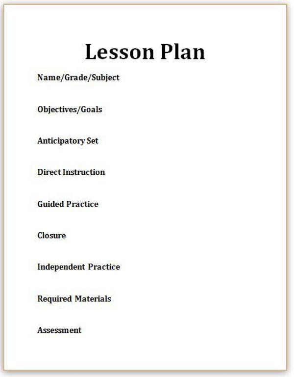 blank lesson plan format - Mersnproforum - Blank Lesson Plan Template
