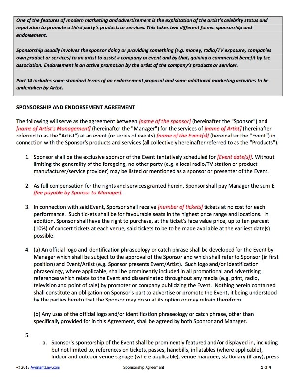 5+ Band Contract Examples - PDF