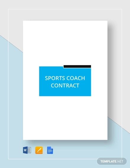 13+ Sports Coach Contract Example Templates - Docs, Word Examples