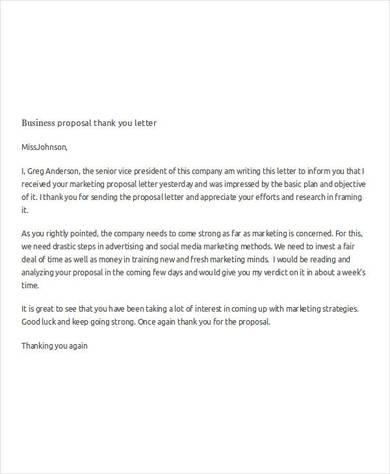 43+ Proposal Letter Examples  Samples - PDF, DOC - marketing proposal letter