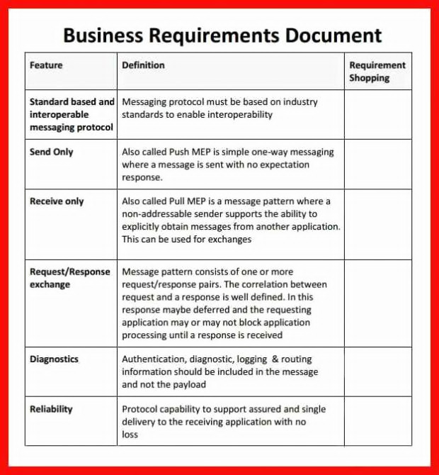 12+ Business Requirements Document Examples - PDF